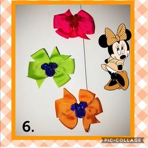 Minnie set of 3 Grosgrain Bows-choose from 6 sets!